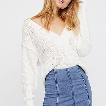 Women's Free People Modern Femme Denim Skirt