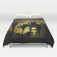 Sunset in Tropics Duvet Cover by Zina Zinchik
