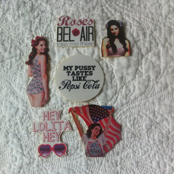 Lana Del Rey fan sticker set of 6 by MissMarcieOnline on Etsy