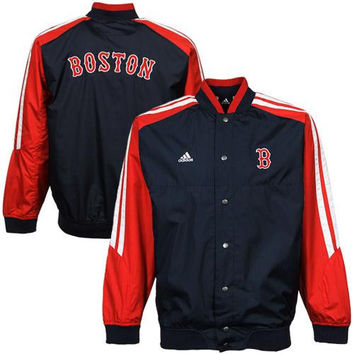 adidas Boston Red Sox Youth Girls Lightweight Jacket - Navy Blue/Red - http://www.shareasale.com/m-pr.cfm?merchantID=7124&userID=1042934&productID=520900089 / Boston Red Sox