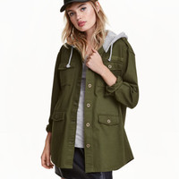 H&M Shirt Jacket with Hood $34.99