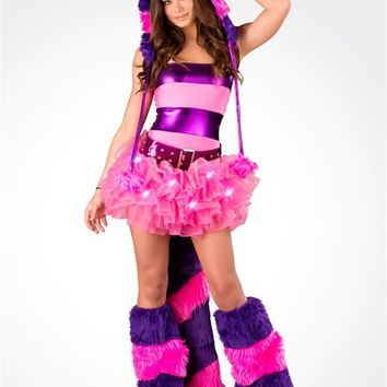 J. Valentine Light Up Cheshire Cat Rave Outfit : Cute Sexy Rave Costumes from RaveReady
