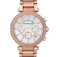 Michael Kors Watch, Women's Chronograph Parker Rose Gold-Tone Stainless Steel Bracelet 39mm MK5491