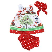 Baby Infant Girls Woodlands Princess Birthday Party Dress Shorts Pants Headband Clothes Set Children's Kids Clothing