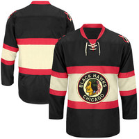 Chicago Blackhawks CCM Classic Throwback Jersey – Black