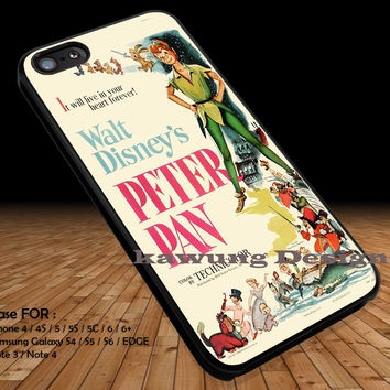Book Cover Peter Pan iPhone 6s 6 6s+ 5c 5s Cases Samsung Galaxy s5 s6 Edge+ NOTE 5 4 3 #cartoon #animated #disney #peterpan DOP211