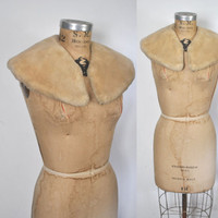 Sheared Fur Collar Scarf / blonde