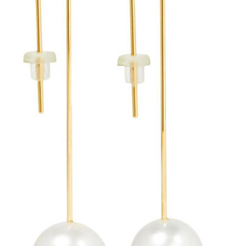 Mizuki - 14-karat gold pearl earrings