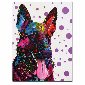 German Shepherd Multi Color Canvas Picture
