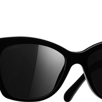 Chanel Sunglasses Black Butterfly Signature | Online Boutique
