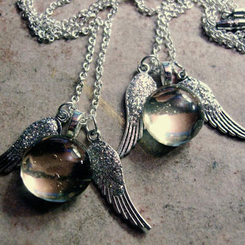 Fleur's Snitch Necklace by trophies on Etsy