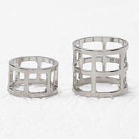 Caged Midi Ring Set