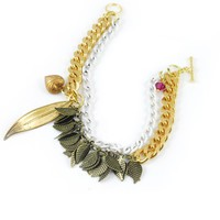 Feather Charm bracelet  - Indie Design Dress Store, Buy Online with Onze Shop Canada