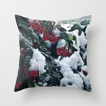 Winter and snow Throw Pillow by VanessaGF | Society6