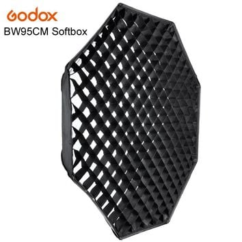 Godox Softbox FW95cm Octagon Softbox w/ Grid Honeycomb Bowens Mount Aluminum Alloy Adapter Ring For Studio Flash