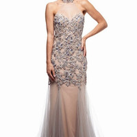 Kari Chang KC26 Jeweled Lace Mermaid 2015 Prom Dress
