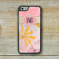 Floral Iphone 6 case, Vintage damask Iphone case, Pink flowers, Pink phone case, Pretty Iphone 6 cover, Floral fashion accessories  (9854)