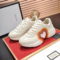 Gucci Women's Leather Rhyton Sneakers Shoes