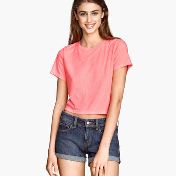 Ribbed Jersey Top - from H&M