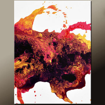 Abstract Canvas Art Painting 18x24 Contemporary Original Wall Artwork by Destiny Womack - dWo - Golden Susnet