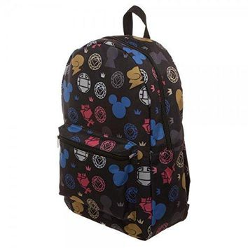 Bioworld Kingdom Hearts All Over Print Sublimated 18 School Backpack