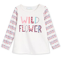 First Impressions Baby Girls' Long-Sleeve Graphic-Print T-Shirt, Only at Macy's | macys.com