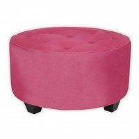 Wake Up Frankie - Ottoman in the Round - Candy Pink : Teen Bedding, Pink Bedding, Dorm Bedding, Teen Comforters