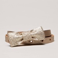 AEO Glitter Bow Belt | American Eagle Outfitters