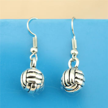 Women's or Girls Volleyball Earring Bronze or Silver