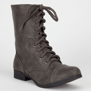 Soda Relax Womens Boots Grey  In Sizes