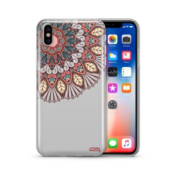 Henna Floral Mandala - Clear TPU Case Cover Phone Case
