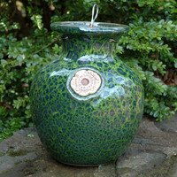 Glazed Down Under Pots - MOSS GREEN DOWN UNDER POT