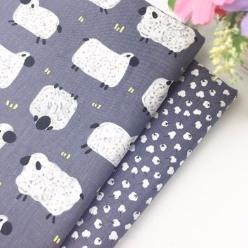 Sheep 100% Cotton Fabric Diy Sewing Craft Telas an Metre Patchwork Baby Bedding Doll Clothing Home Textile Tilda Quilt Tissue