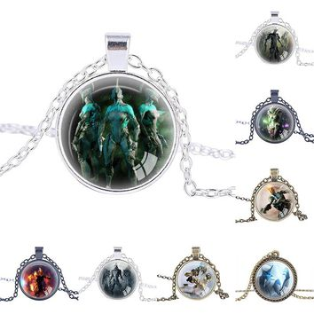 Warframe Games necklace Top games jewelry pendant personalized gifts christmas gift best friend necklaces kids gift boys jewelry