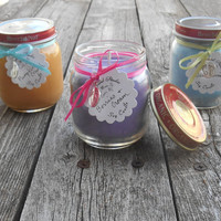 Baby Shower Party Favors 4 Oz Soy Candles Choose your Scent Baby Footprint Charms