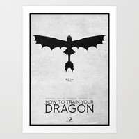 How To Train Your Dragon - minimal poster Art Print by Mads Hindhede Svanegaard