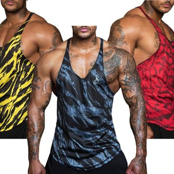 Mens Mesh Cloth Quick Dry Camouflage Tank Tops