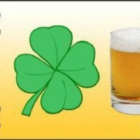 I Love Beer  Shamrock Decorative Sign Tag St Patricks Day