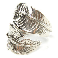 SunaharA The Feather Wrap Ring In Silver : Karmaloop.com - Global Concrete Culture