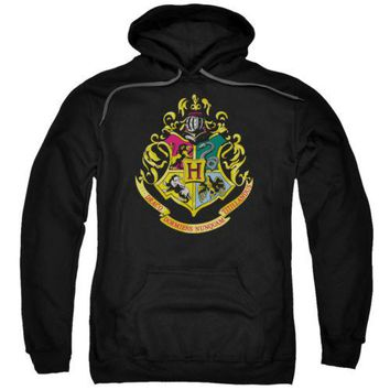 Harry Potter Movie Hogwarts Crest Licensed Adult Hoodie