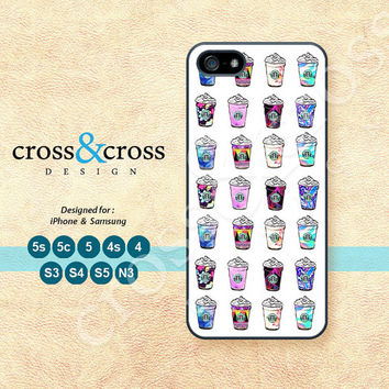 Starbucks coffee, Frappuccino, iPhone 5 case, iPhone 5C Case, iPhone 5S case, Phone cases, iPhone 4 Case, iPhone 4S Case, iPhone case, 0582