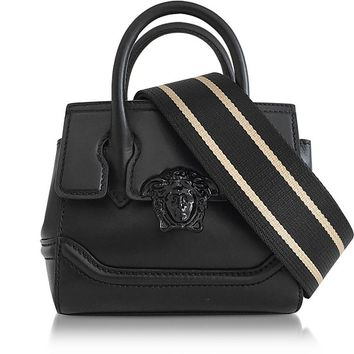 Versace Palazzo Empire Black Leather Mini Handbag