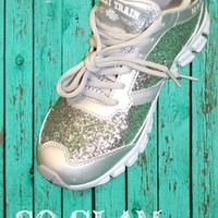 So Glam I Sweat Glitter tennis shoes