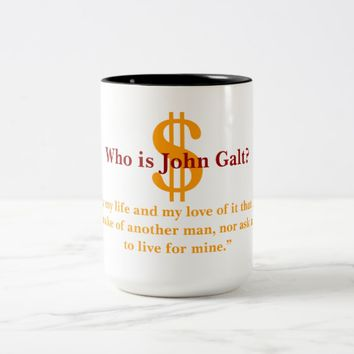 Who is John Galt Two-Tone Coffee Mug