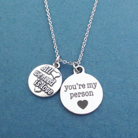 All we need is love, You're my person, Silver, Necklace, Heart, Love, Grey's, Jewelry, Birthday, Lovers, Friends, Sister, Gift, Jewelry