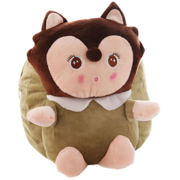 Lovely Fox Dolls Toddler Backpack Infant Villus Knapsack Cute Baby Bag 1 - 3Y