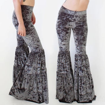 Crushed Velvet Flow Pants