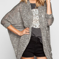 Full Tilt Marled Womens Elbow Sleeve Cocoon Sweater Multi  In Sizes