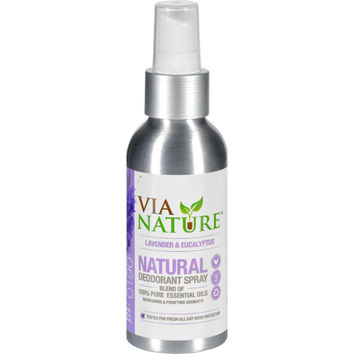 Via Nature Deodorant - Spray - Lavender And Eucalyptus - 4 Fl Oz