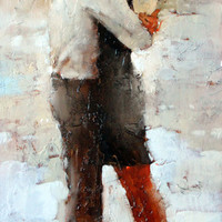 Andre Kohn The Kiss series #16 [Andre Kohn_A7201] - $99.00 oil painting for sale|Wonderful artwork|Buy it at once.